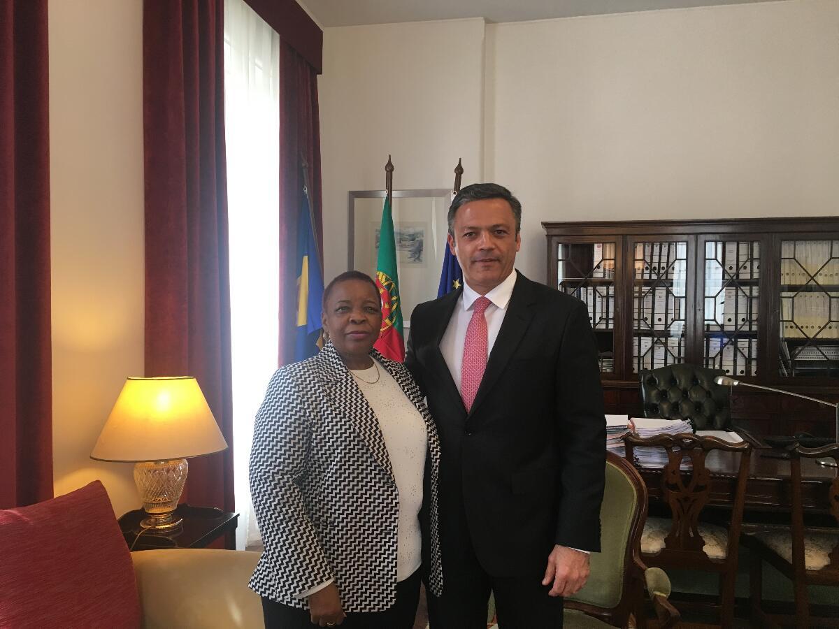 Vice-presidente recebe embaixadora da África do Sul
