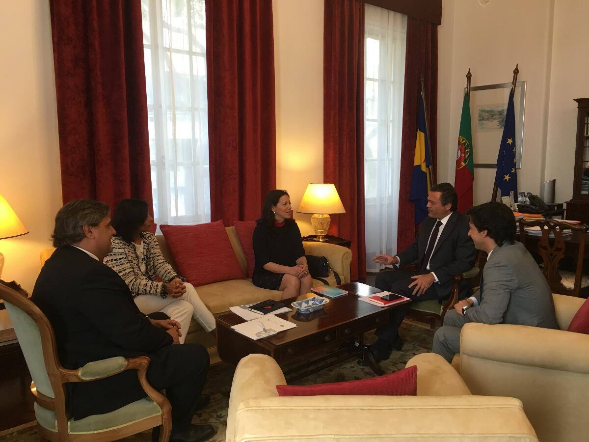 Vice-Presidente recebe representante da Comissão Europeia