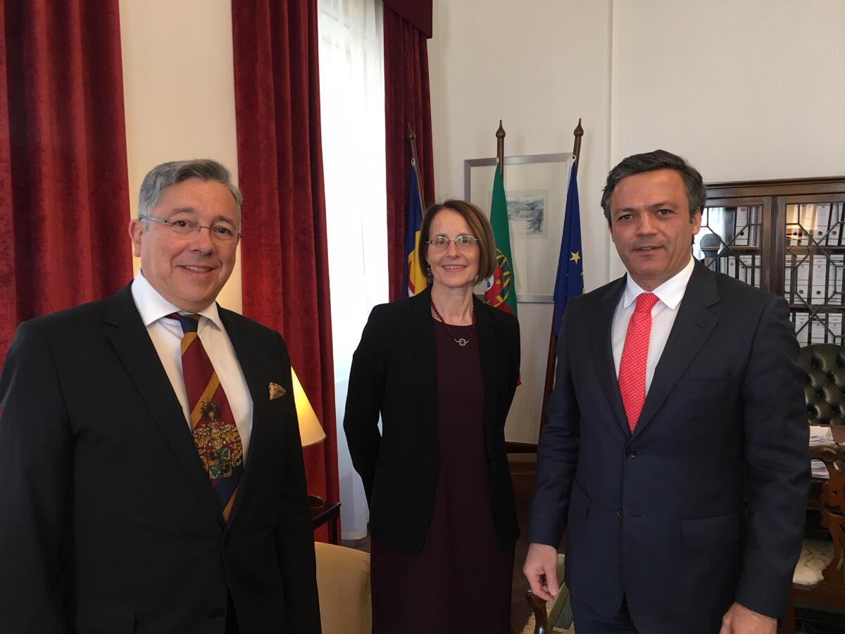 Vice-Presidente recebe embaixadora da Bélgica