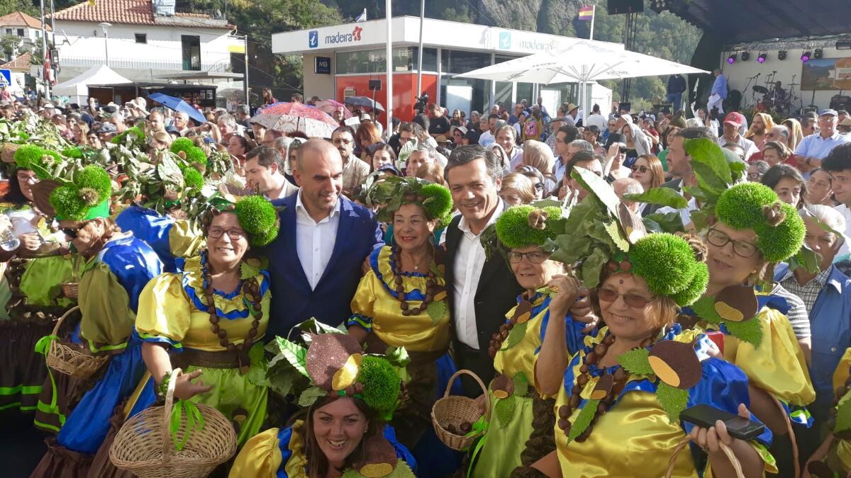 O Vice-Presidente do Governo Regional participou na XXXV Festa da Castanha, no Curral das Freiras.