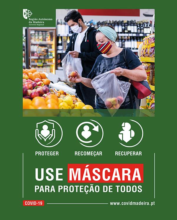 USE MÁSCARA PARA PROTEÇÃO DE TODOS!