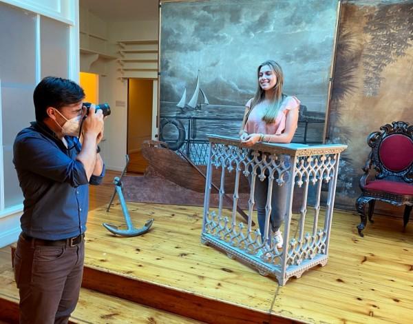 Nini Andrade Silva e Rosana Rodrigues em  visita online ao Museu de Fotografia da Madeira