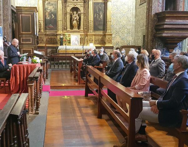 Eduardo Jesus no lançamento do novo livro do Bispo do Funchal, D. Nuno Brás