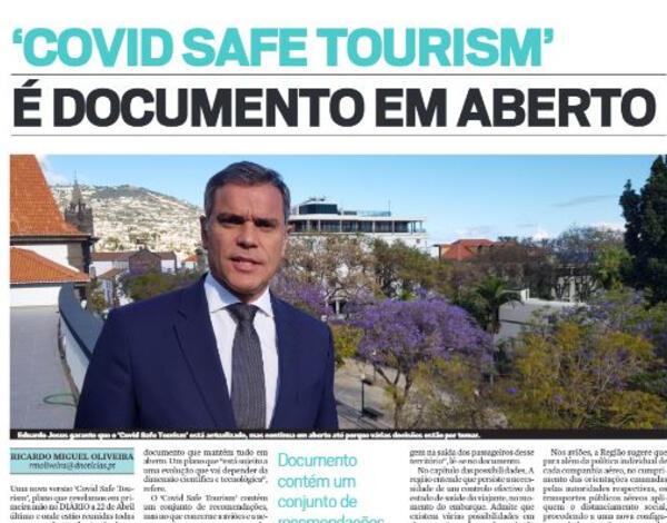 'Covid Safe Tourism' é um documento em aberto