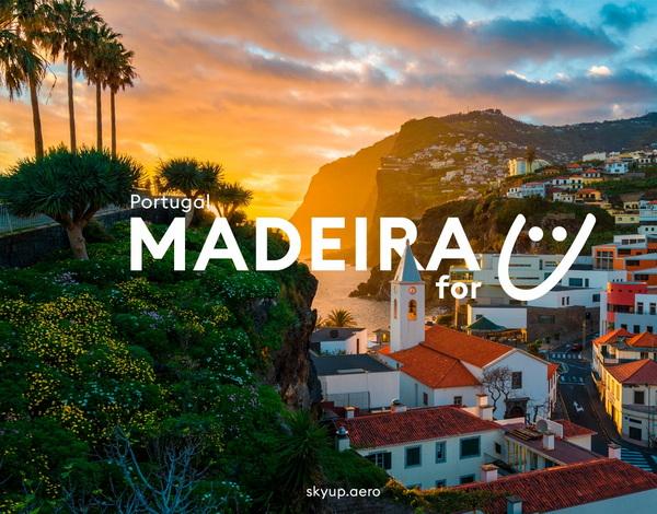 SkyUp Airlines mantém operação para Madeira no Inverno e oferece mais 8 mil lugares