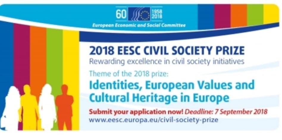 Prémio CESE para a Sociedade Civil 2018: Identidades, valores europeus e património cultural na Europa