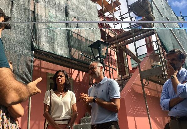 Paula Cabaço visitou a obra, na sua fase final de recuperação