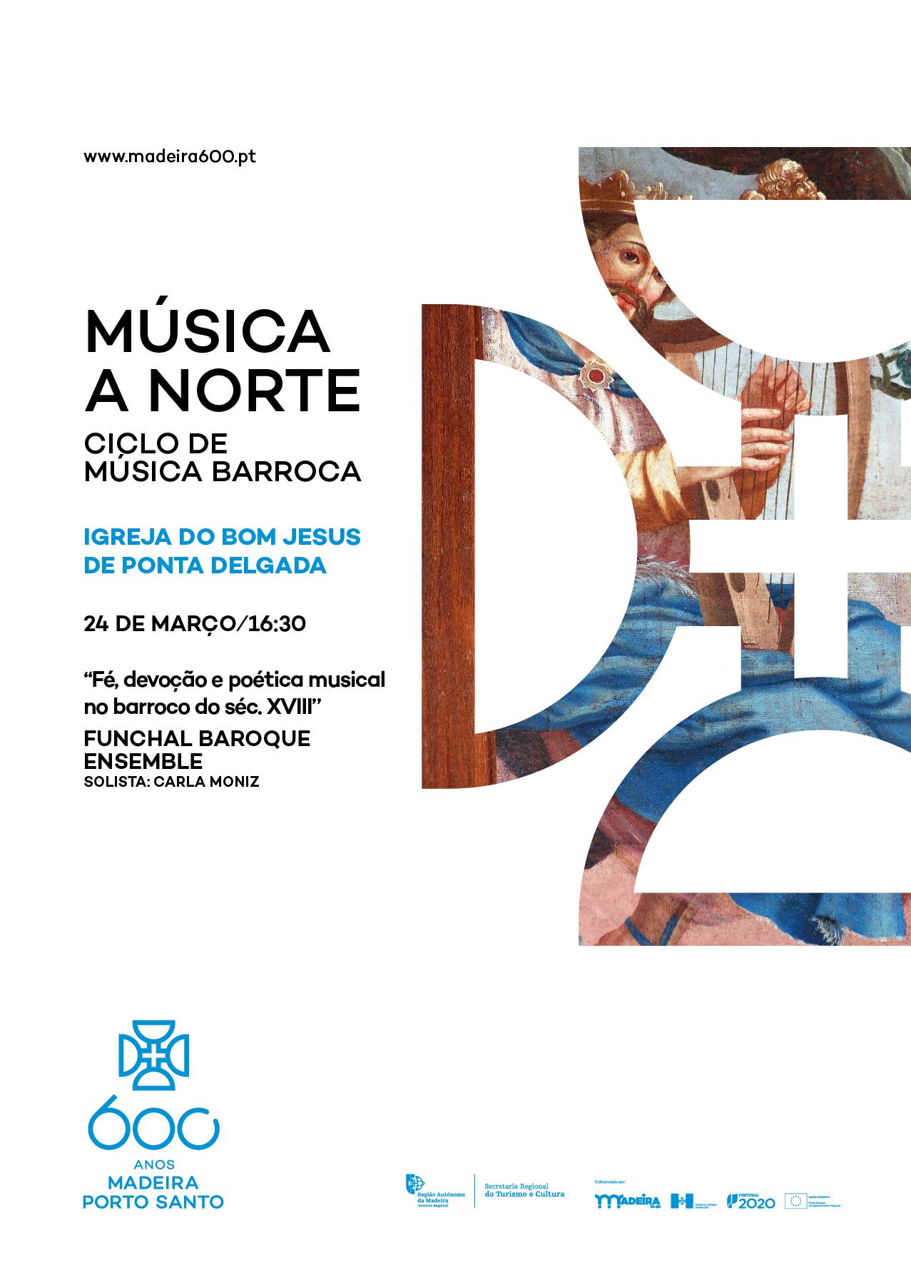 """""""Música a Norte"""" chega, neste domingo, à Igreja do Senhor Bom Jesus de Ponta Delgada"""