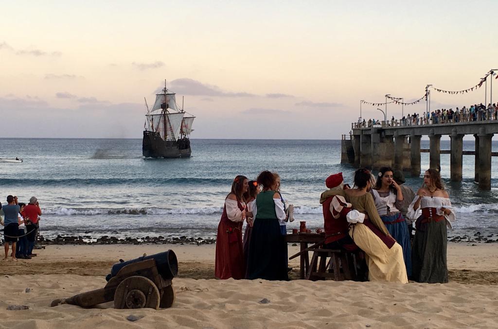 Multidão aplaudiu chegada de Colombo ao Porto Santo