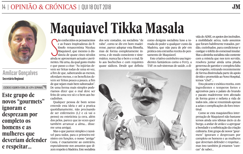 Maquiavel Tikka Masala