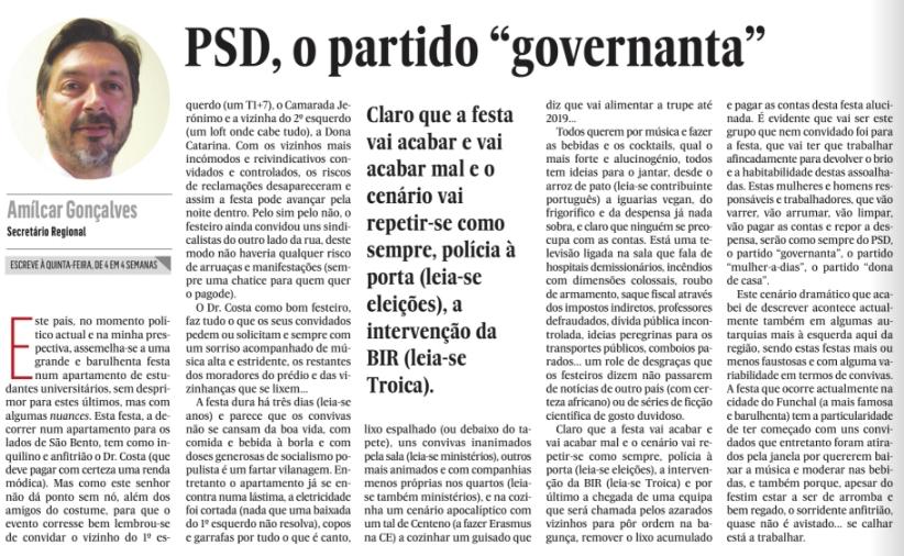 """PSD, o partido """"governanta"""""""