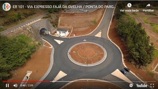 Vídeo mostra como está evoluir a Via Expresso até à Ponta do Pargo
