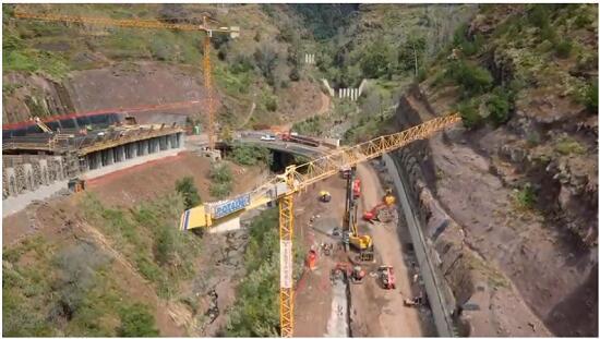 Vídeo revela evolução dos trabalhos nas escarpas sobranceiras ao Túnel João Abel de Freitas e na ER 118
