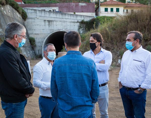 Pedro Fino visitou local da obra de ligação ao Jardim da Serra