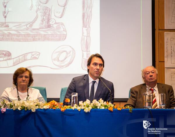 Pedro Fino na apresentação do novo livro da escritora madeirense Teresa Valério