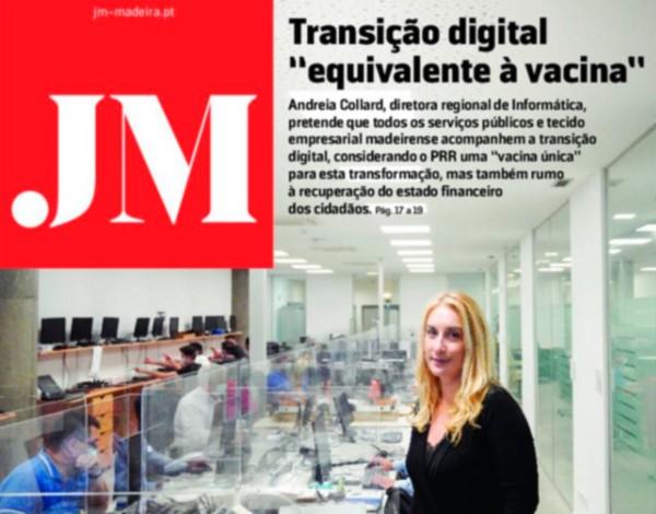 Andreia Collard entrevistada pelo Jornal da Madeira.