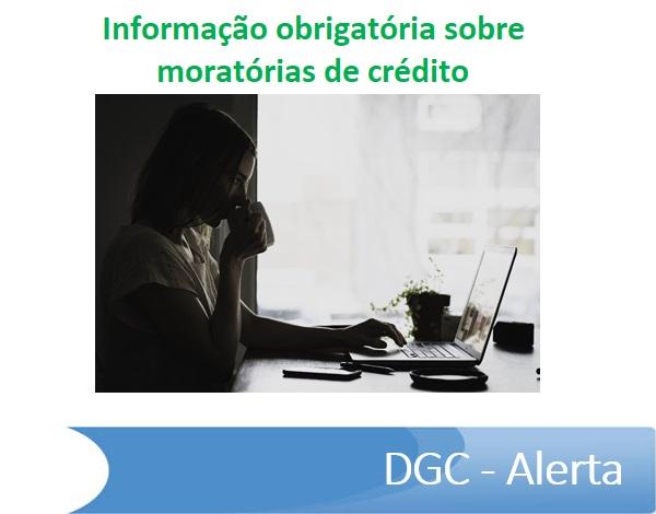 Informação obrigatória sobre moratórias de crédito