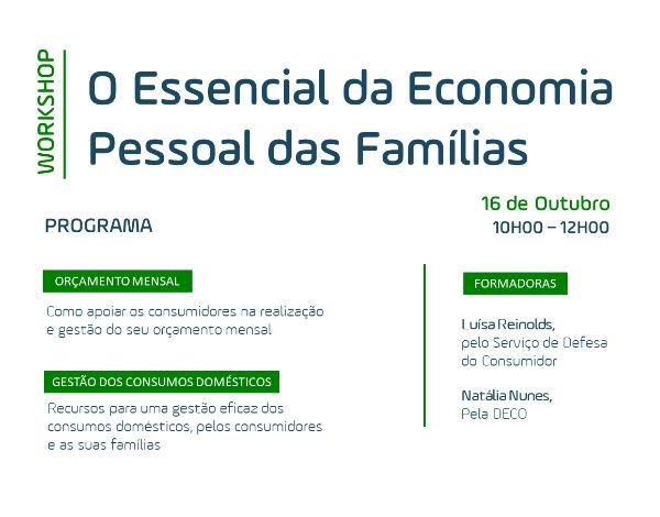 Workshop - Parceria entre a DECO e o Serviço de Defesa do Consumidor