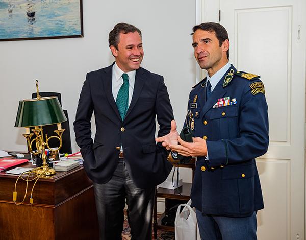 O novo Comandante da GNR na Madeira efectuou visita protocolar à Secretaria Regional de Economia