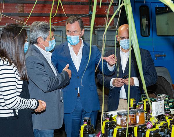 Secretário da Economia visitou Fábrica do Ribeiro Seco em laboração