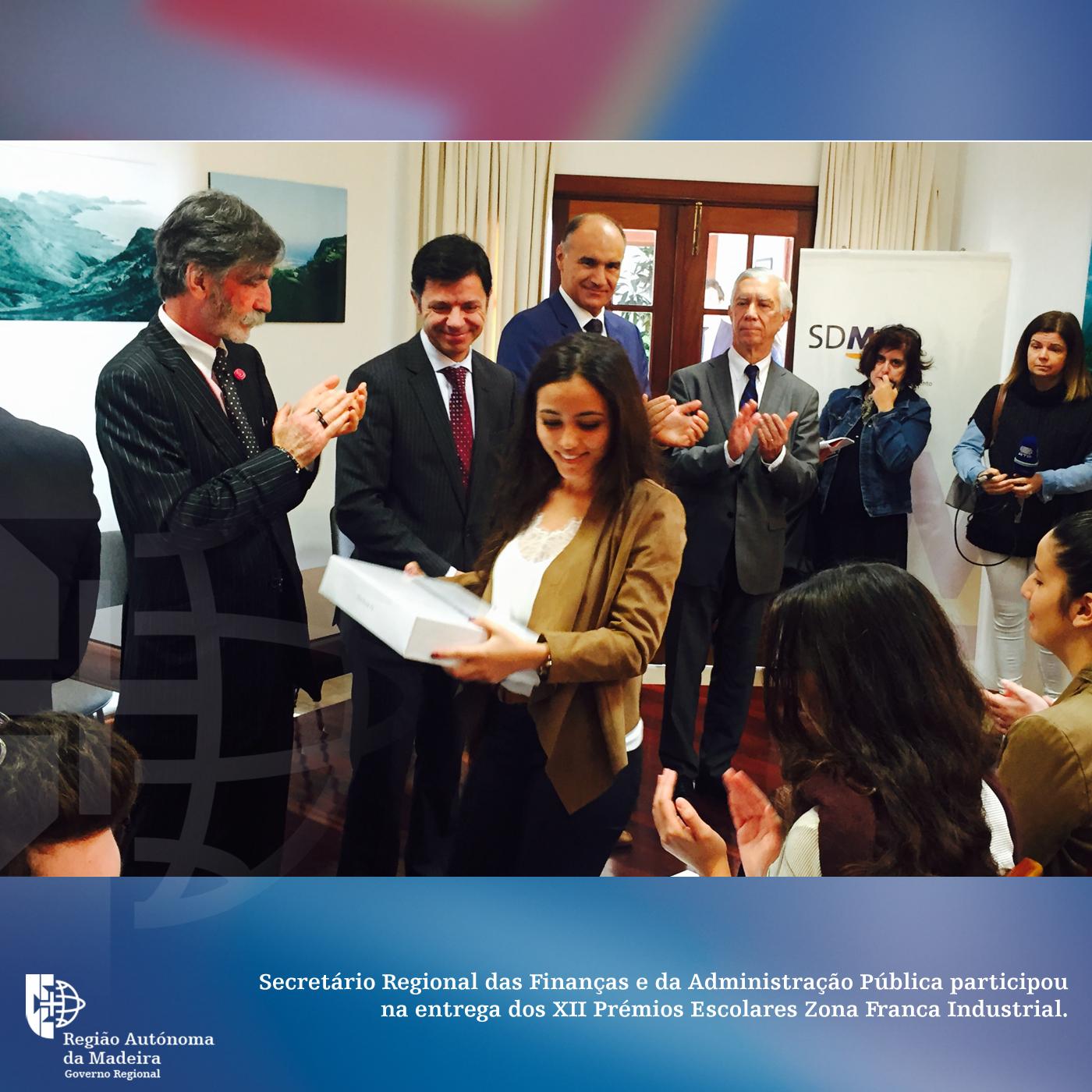 Secretário Regional das Finanças e da Administração Pública participou na entrega dos XII Prémios Escolares Zona Franca Industrial.