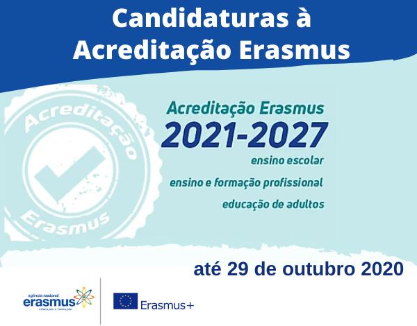 Convite à Acreditação Erasmus 2021-2027