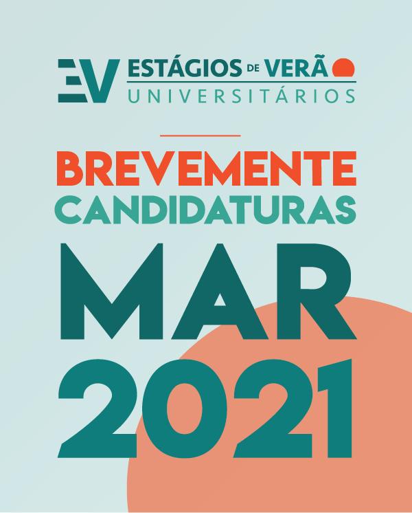 CANDIDATURAS AOS ESTAGIOS DE VERAO, ENTRE 1 E 31 DE MARCO