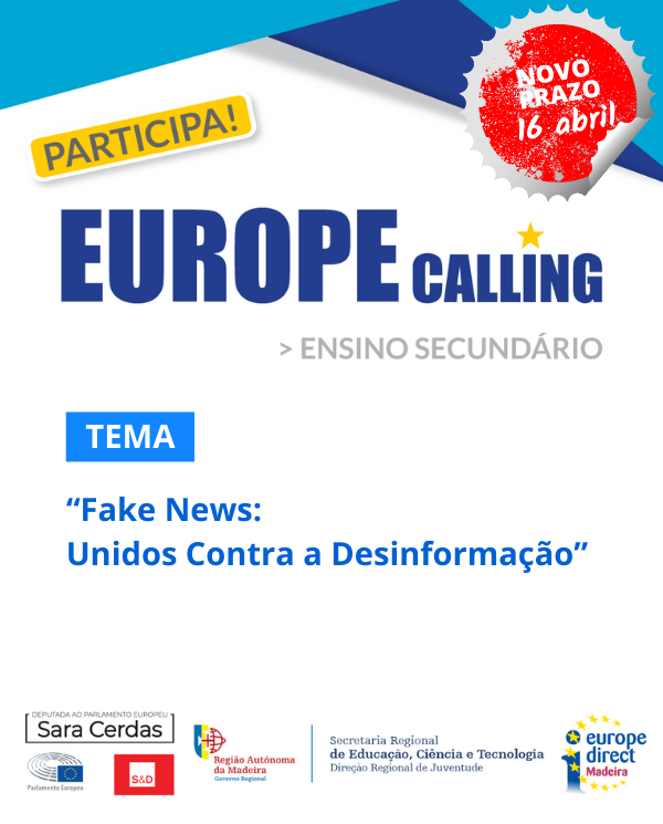 EUROPE CALLING | VIDEOS CONCORRENTES ENTREGUES ATE 16 DE ABRIL