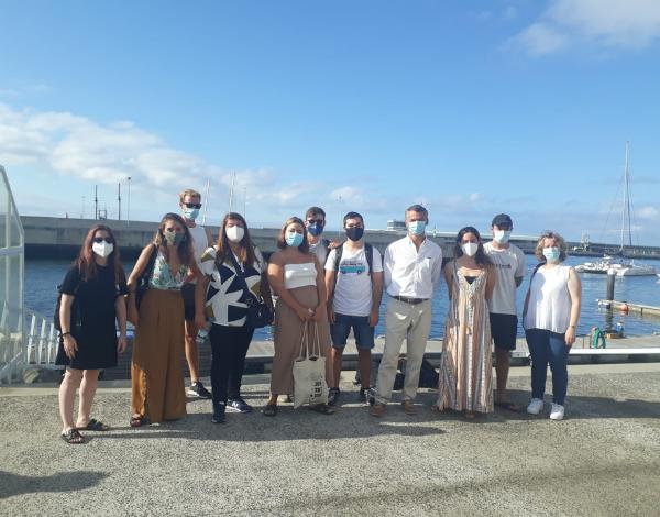 Estagiários europeus do Programa Eurodisseia em atividade cultural na Madeira