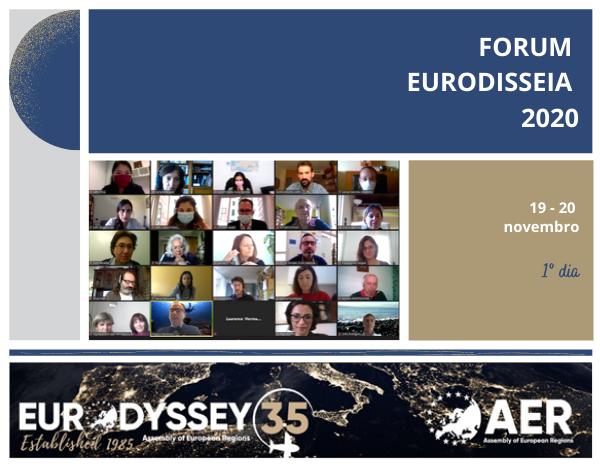 DRJ na abertura do Fórum Eurodisseia, em ano de celebração do 35º aniversário do Programa.
