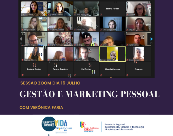 Gestão e Marketing Pessoal ontem no Zoom com grande adesão