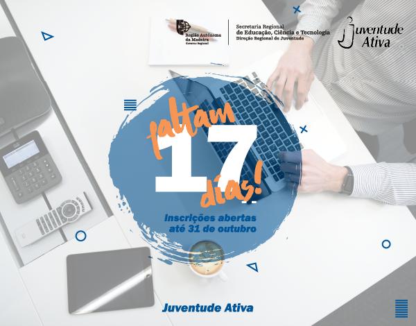 Programa Juventude Ativa   Candidaturas a decorrer até 31 de outubro