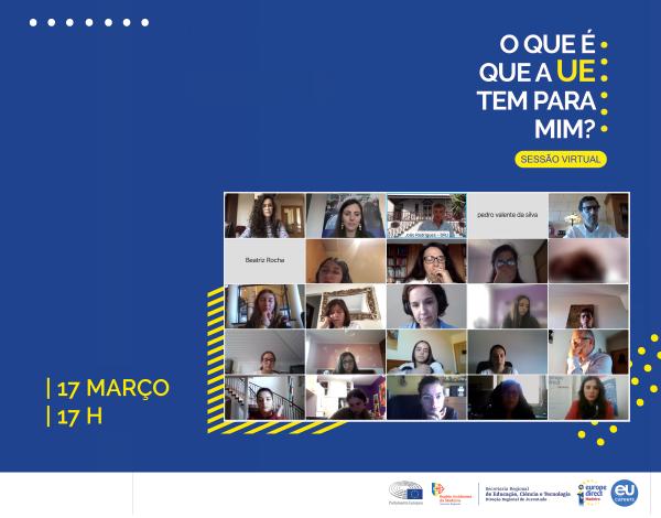 DRJ ontem na sessão online promovida pelo Parlamento Europeu