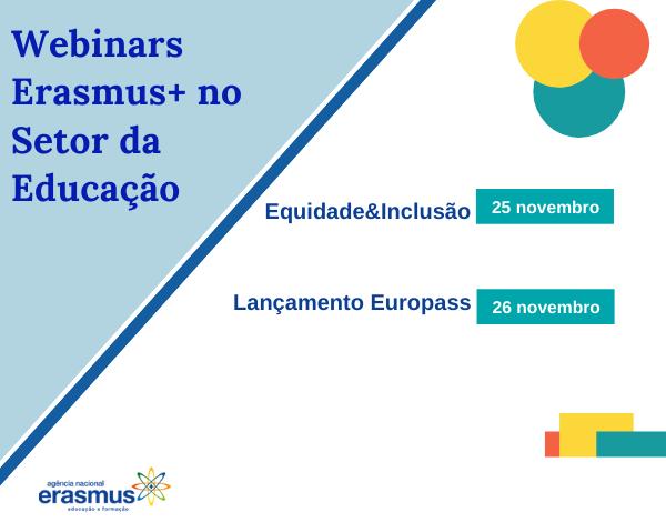 Webinars Erasmus+ no Setor da Educação