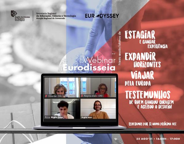 Webinar do Programa Eurodisseia muito participado!