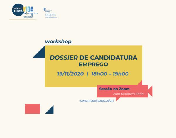 Workshop gratuito online |Dossier de Candidatura a Emprego
