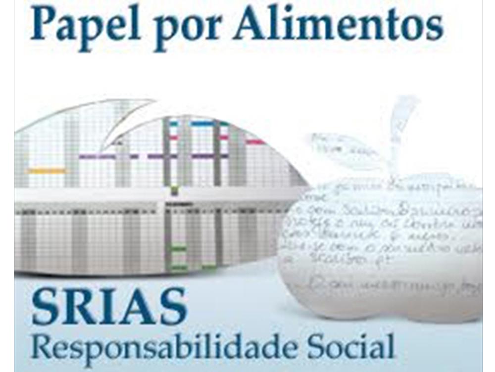 SRIAS entregou 7 toneladas de papel ao Banco Alimentar