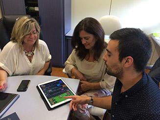Rubina Leal visitou empresas apoiadas pelo IEM