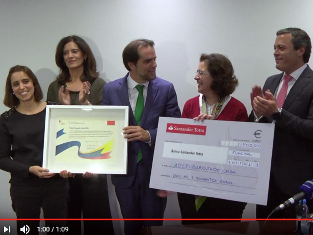 SRIAS e Santander atribuem Prémio Inovação Social à Associação Garouta do Calhau