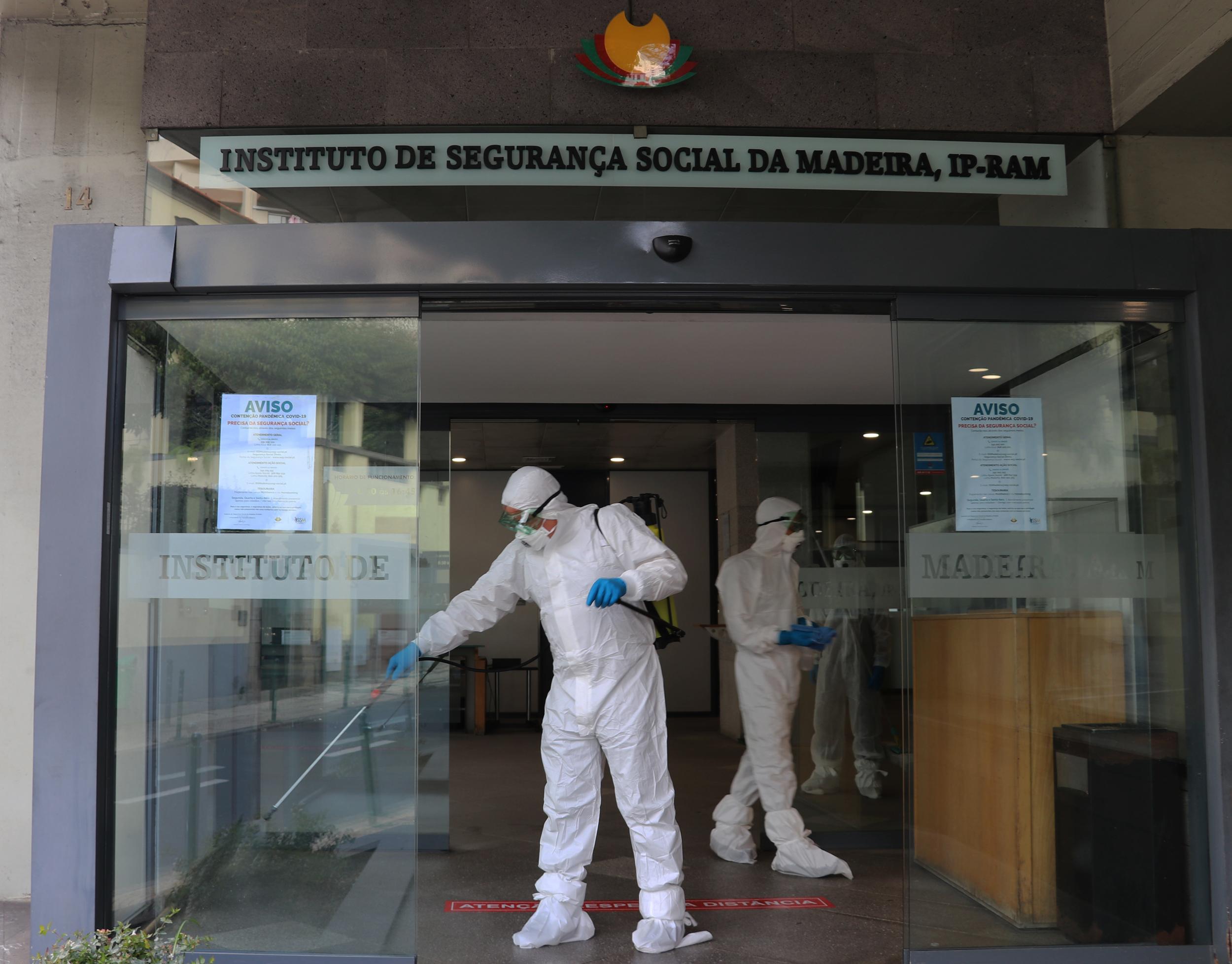 Governo Regional promove desinfeção alargada dos serviços de atendimento da Segurança Social
