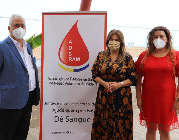 Augusta Aguiar nas comemorações do Dia Mundial do Dador de Sangue