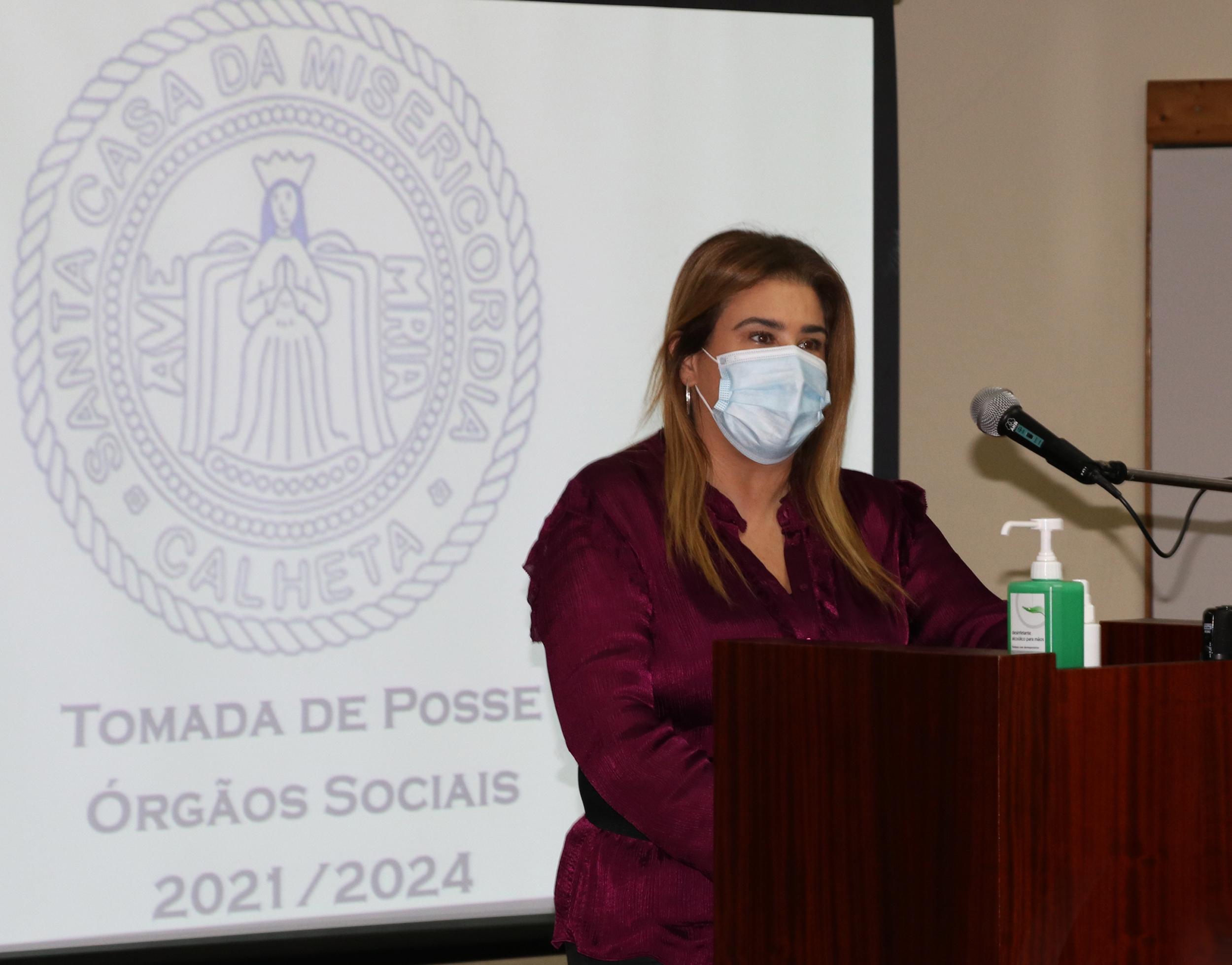 Augusta Aguiar na tomada de posse dos novos Órgãos Sociais da Santa Casa da Misericórdia da Calheta