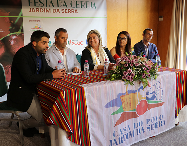 Rita Andrade na abertura oficial da Festa da Cereja
