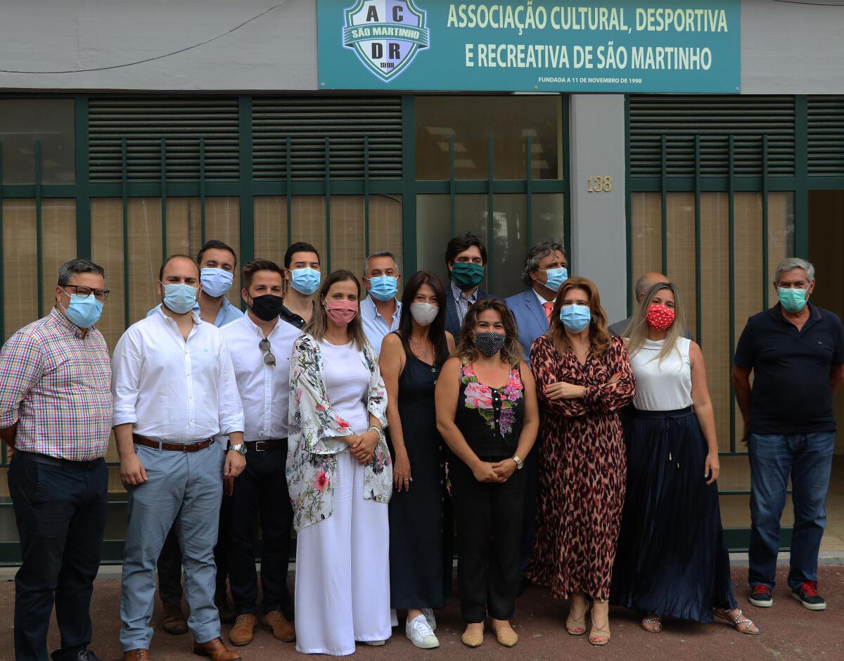 Augusta Aguiar presente na tomada de posse dos Novos Órgãos Sociais da Associação Cultural, Desportiva e Recreativa de São Martinho