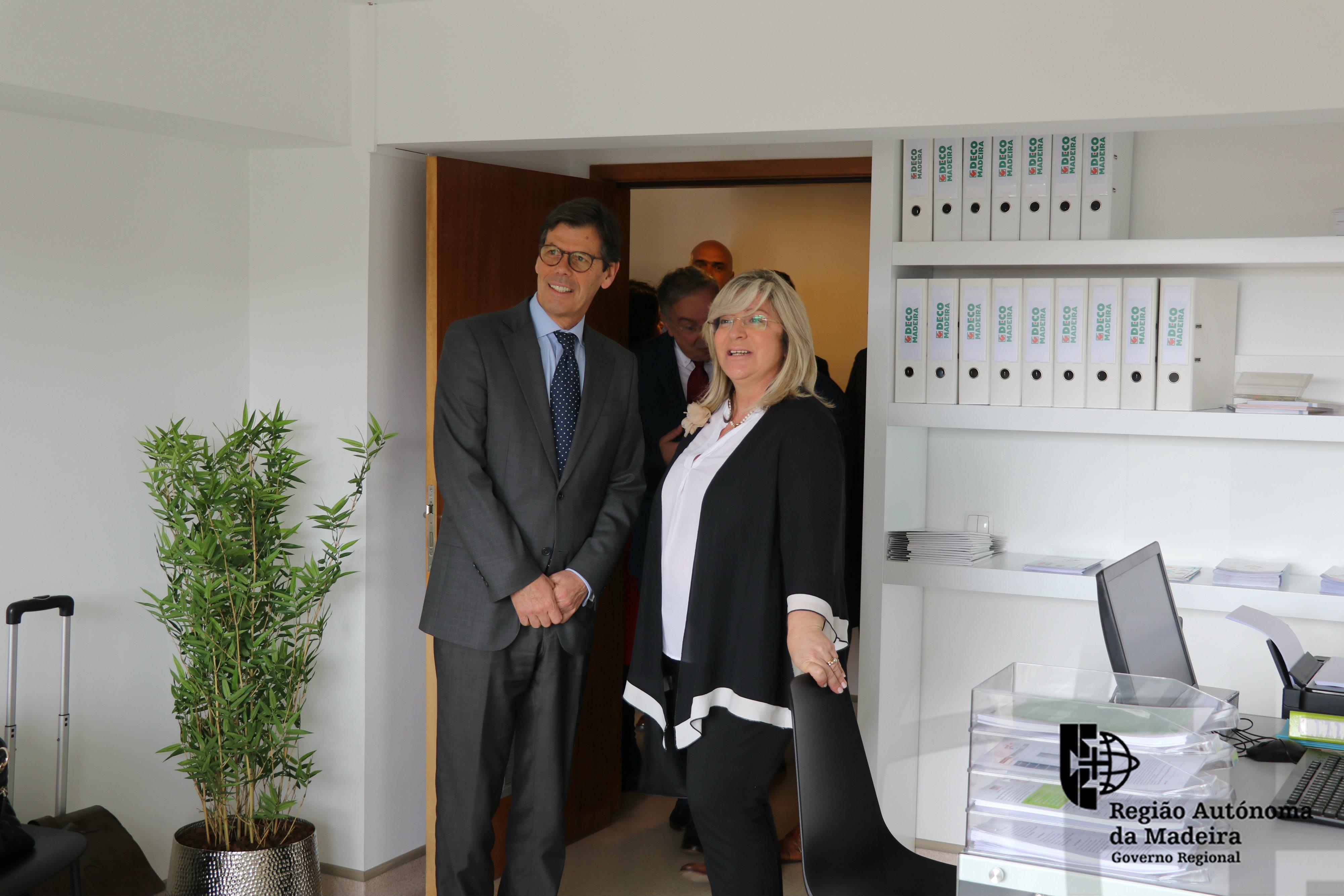 Rita Andrade na inauguração do Balcão Regional da DECO