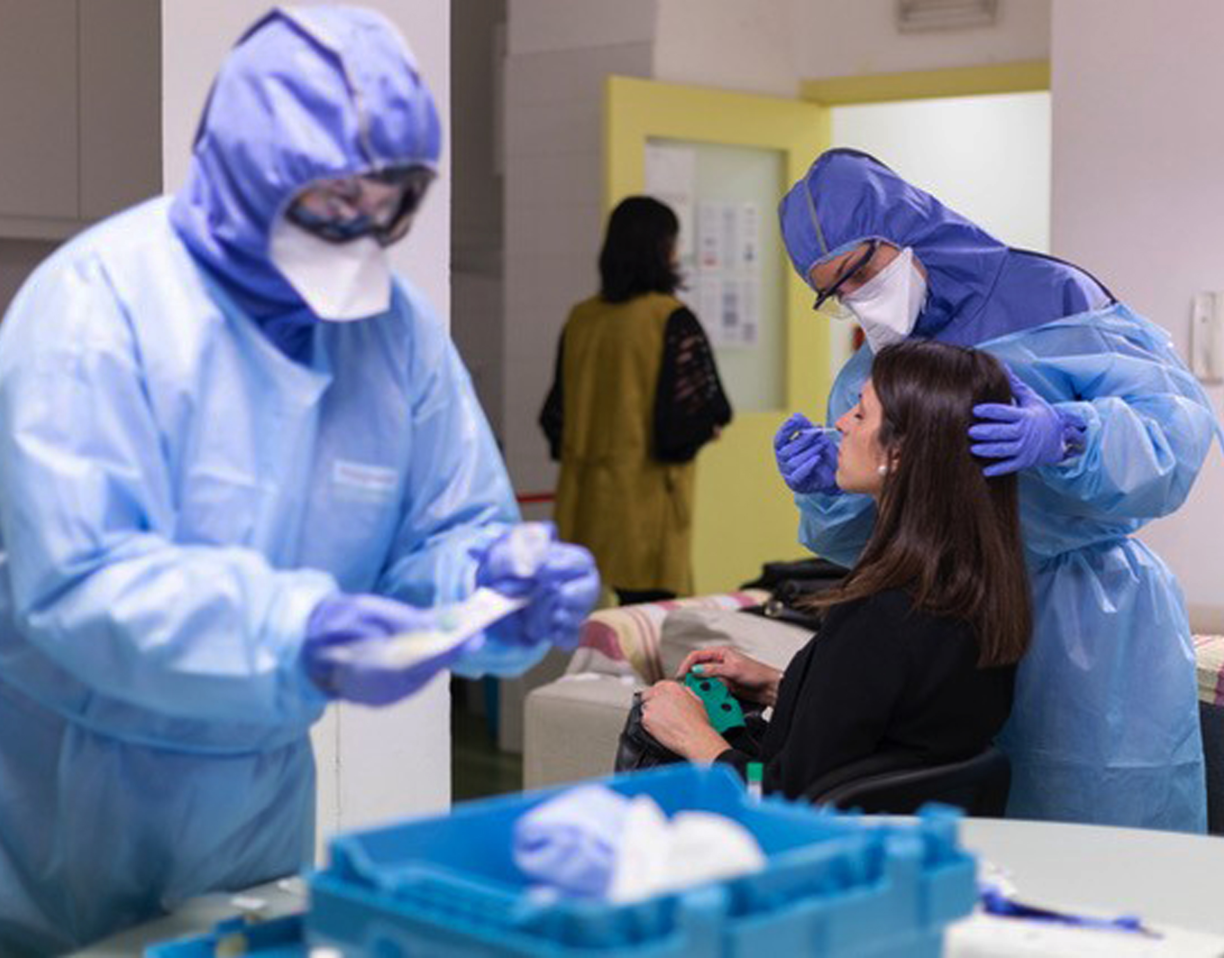 Funcionários da IHM testados à COVID-19