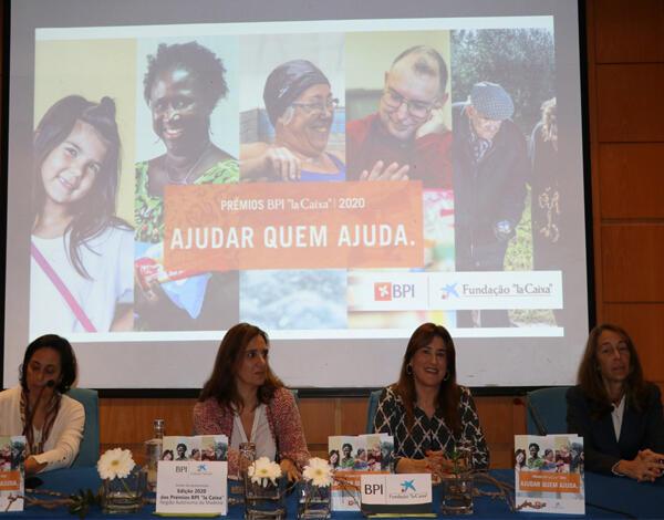 Augusta Aguiar no lançamento dos Prémios BPI 'la Caixa 2020'