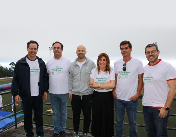 Augusta Aguiar participou na 'Marcha Pela Saúde'