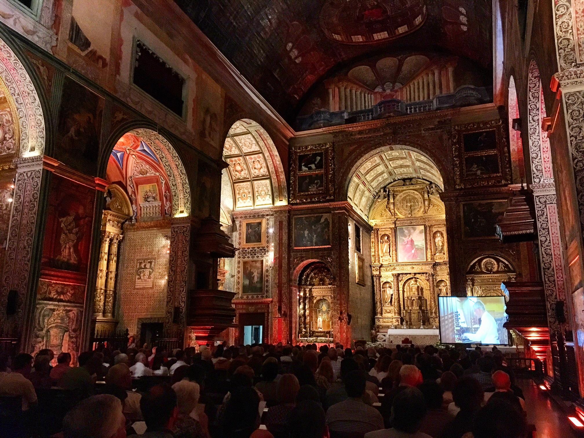 Igreja do Colégio encheu para o concerto inaugural do Festival de Órgão