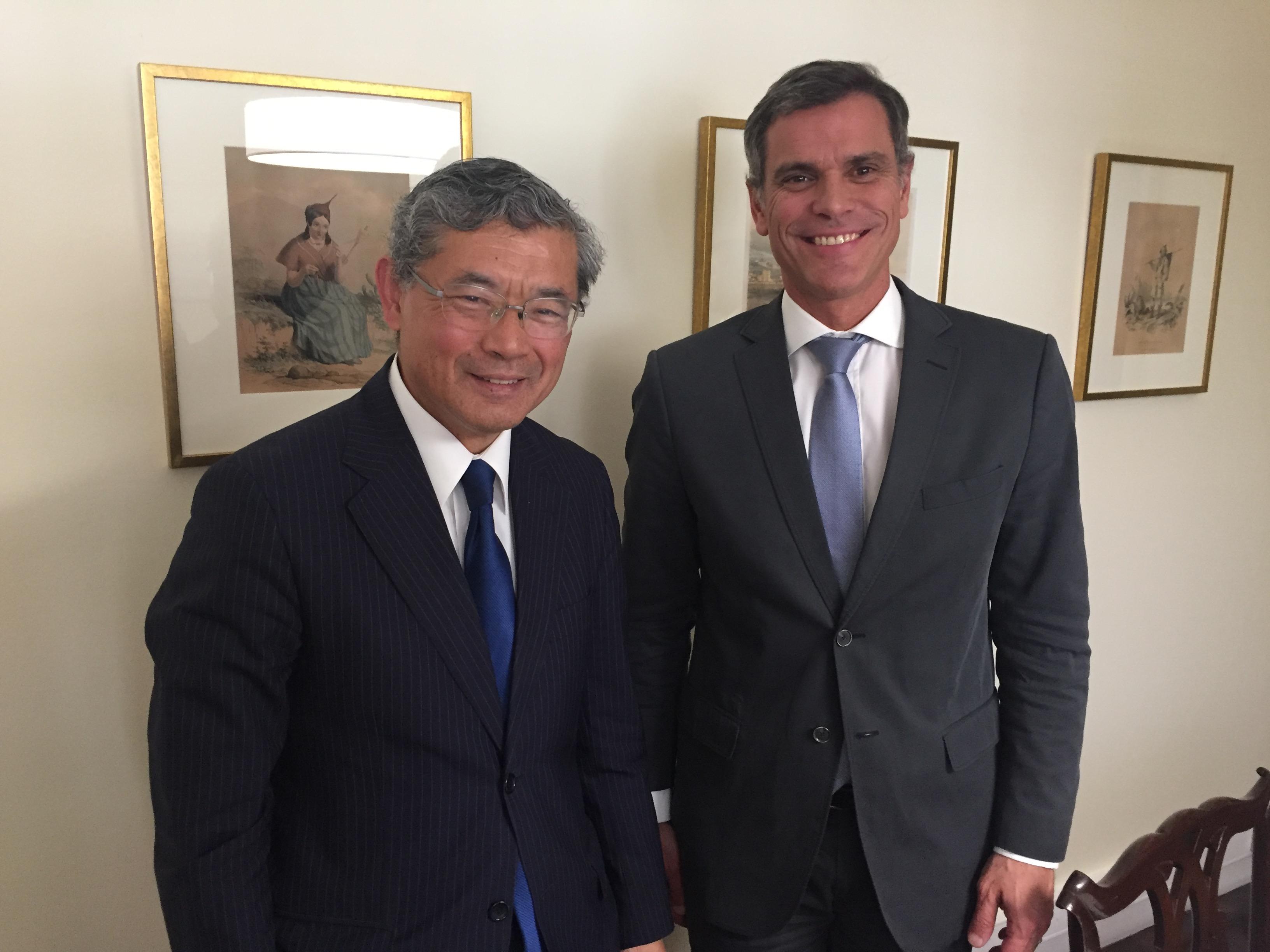 Eduardo Jesus recebeu Embaixador do Japão